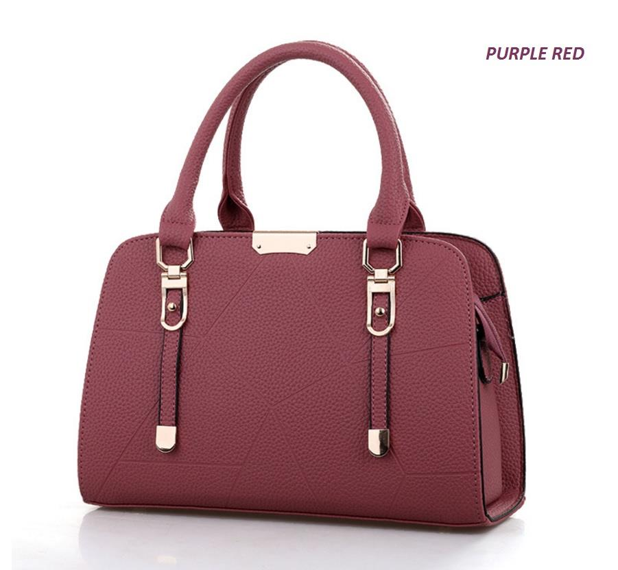 Korean Design Mix Leather Handbag Women Bag Sling Beg Shoulder