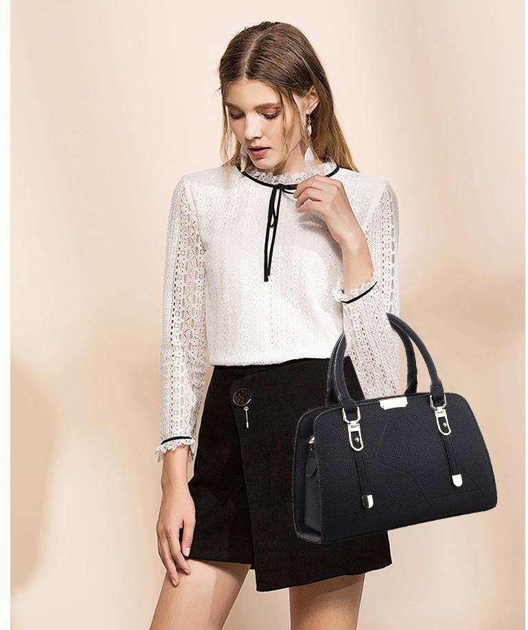 8982934108eb Korean Design Mix Leather Handbag Women Girl Bag Sling Beg Shoulder