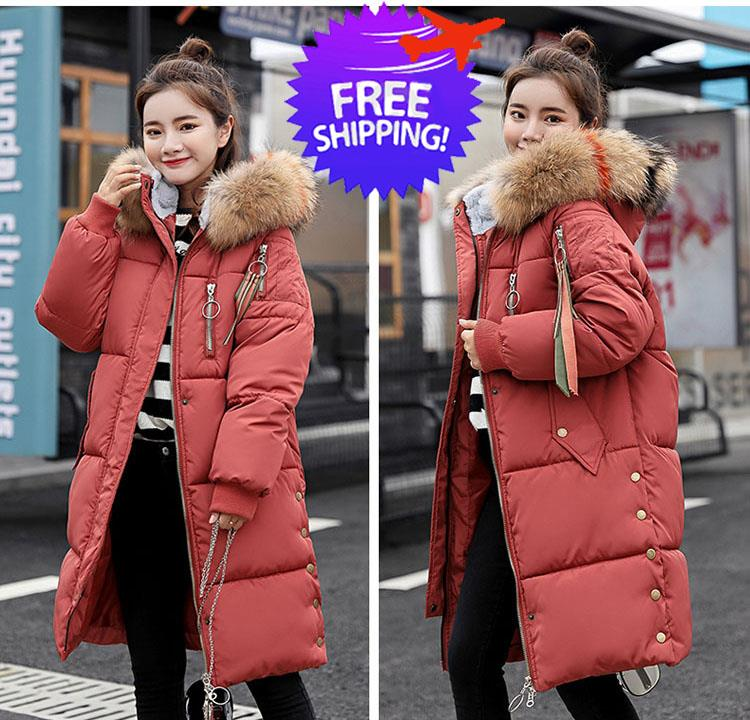 Korean Design Women Hooded Thick Fu (end 8 11 2019 12 16 PM) 9bd070cee6