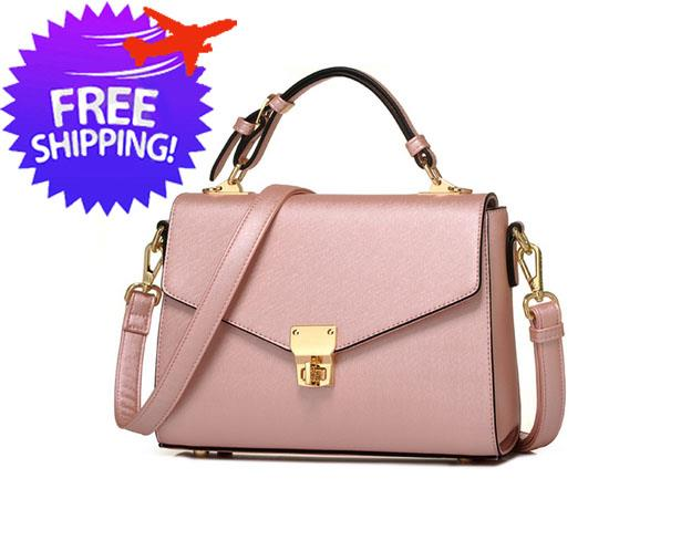 75b09617ac Korean Design Women Lady PU Leather Top Handle Shoulder Hand Bag. ‹ ›