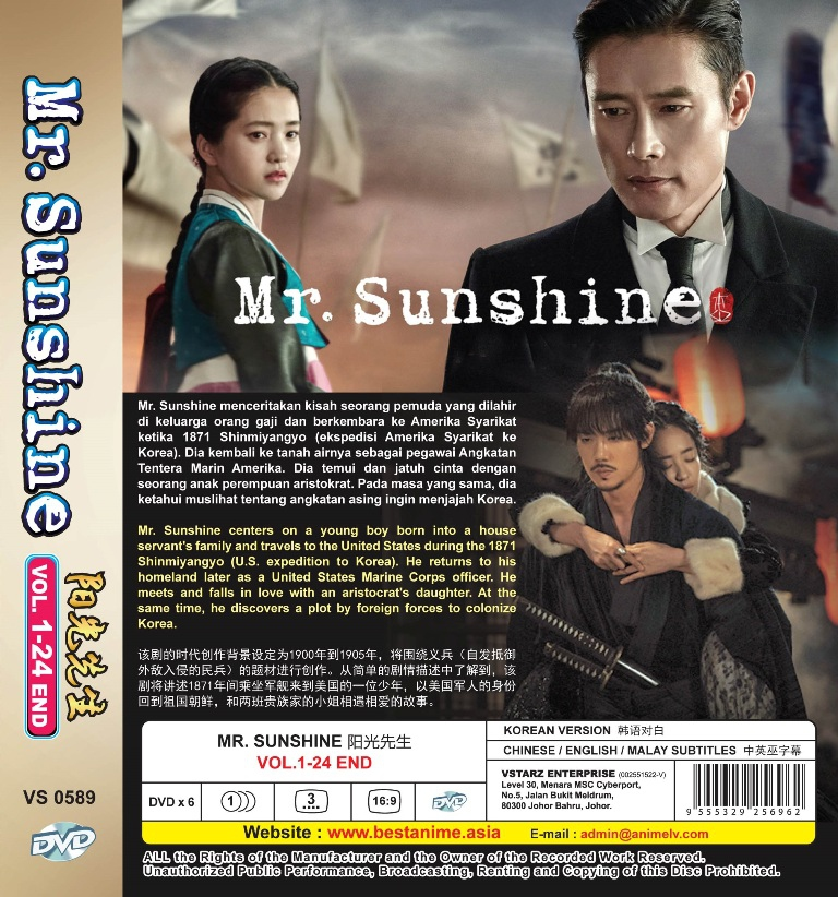 Korean Drama Mr  Sunshine Vol 1-24End DVD