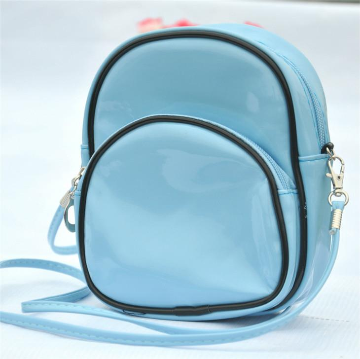 New Korean Fashion Bright Leather Shoulder Bag (Light Blue)