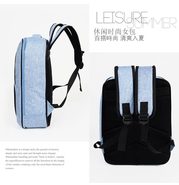 16939844f0f2 Korean Fashion Canvas Men Women Casual Backpack Students School Bag
