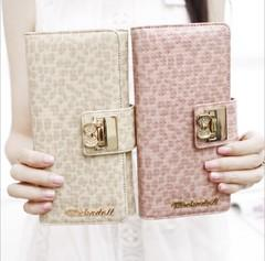 NEW KOREAN FASHION LONG BOW PLAID SHORT PARAGRAPH WALLET FOR SALES