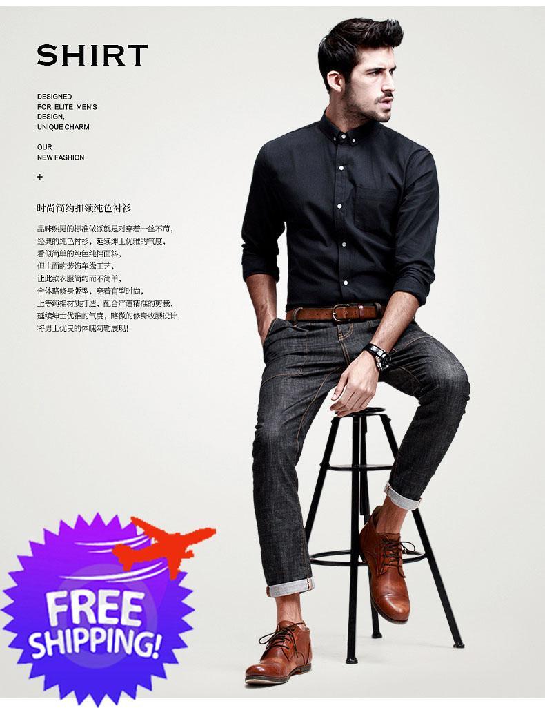 Korean Fashion Men Long Sleeve Pure End 10 19 2017 4 17 Pm