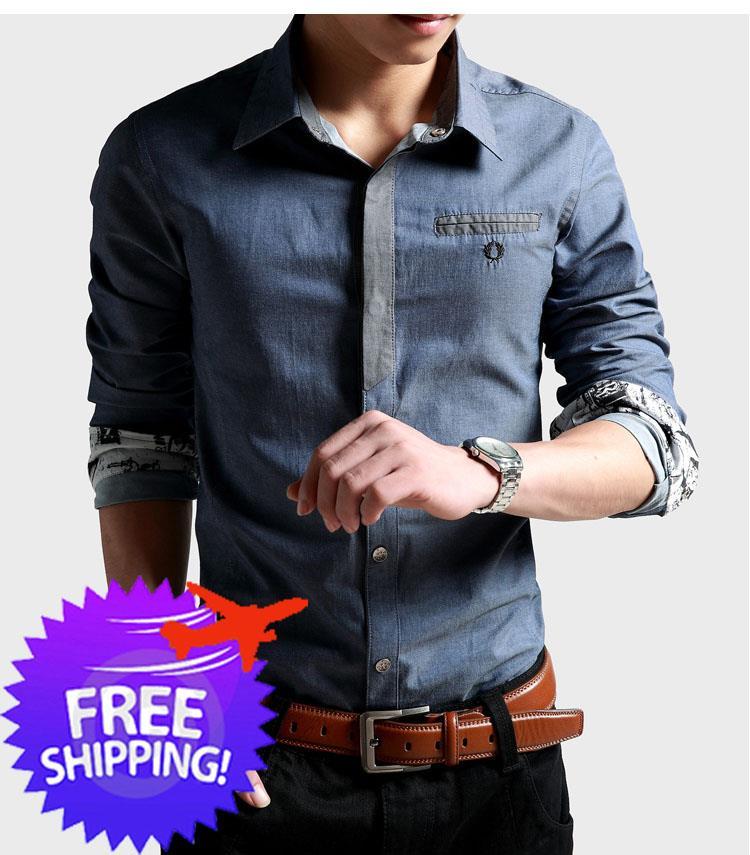 Korean fashion men long sleeve slim end 9 23 2019 12 29 pm for Online shopping men t shirt