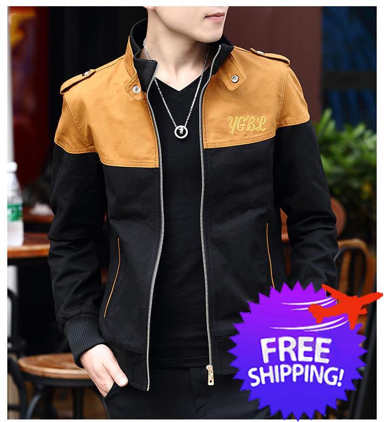 0da757596 Korean Fashion Men Long Sleeve Slim Fit Autumn Winter Jacket Coat