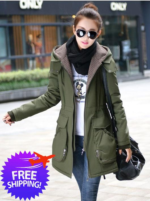 Womens Hooded Winter Coat Tradingbasis