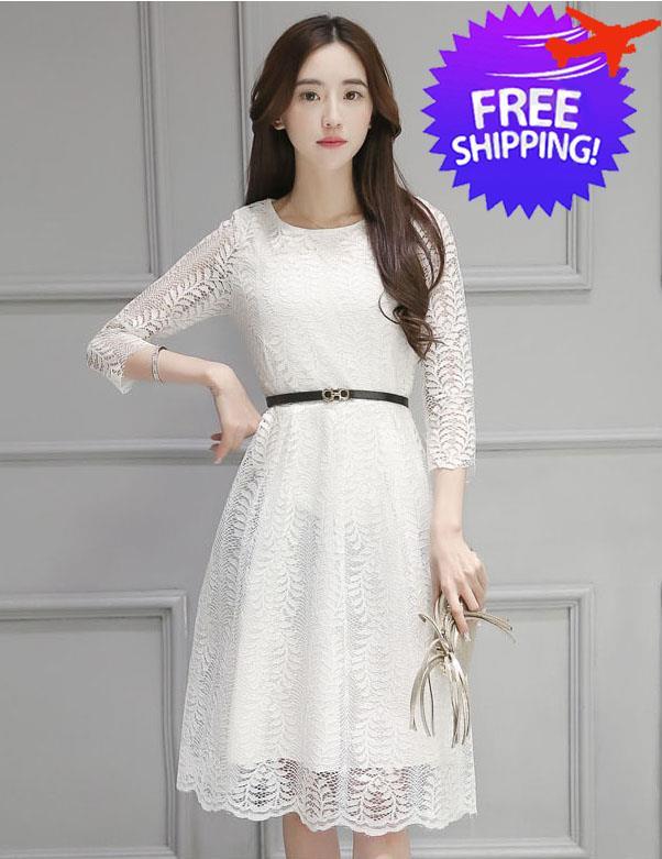 Korean Fashion Women Lady Round Neck (end 4 3 2020 11 08 PM) 0b54e11394
