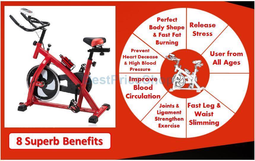 Korean Gym Iron Spinning Bicycle Cycling Workout Bike Fast Slim SB-001