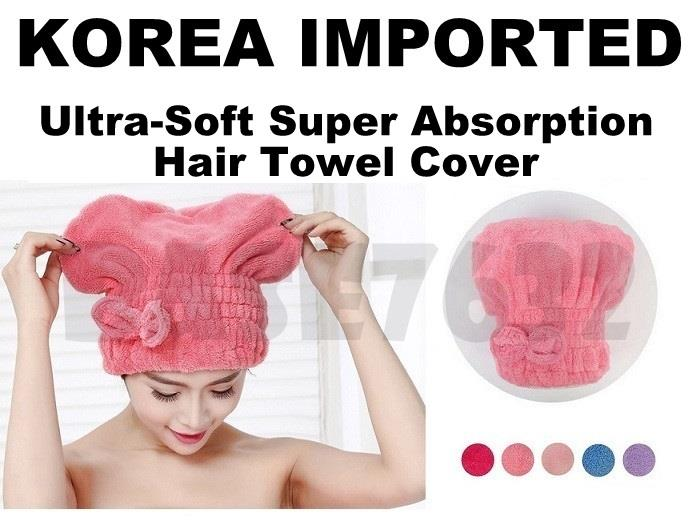 Korean High Absorbent  Microfiber Head Dry Drying Hair Towel Cover