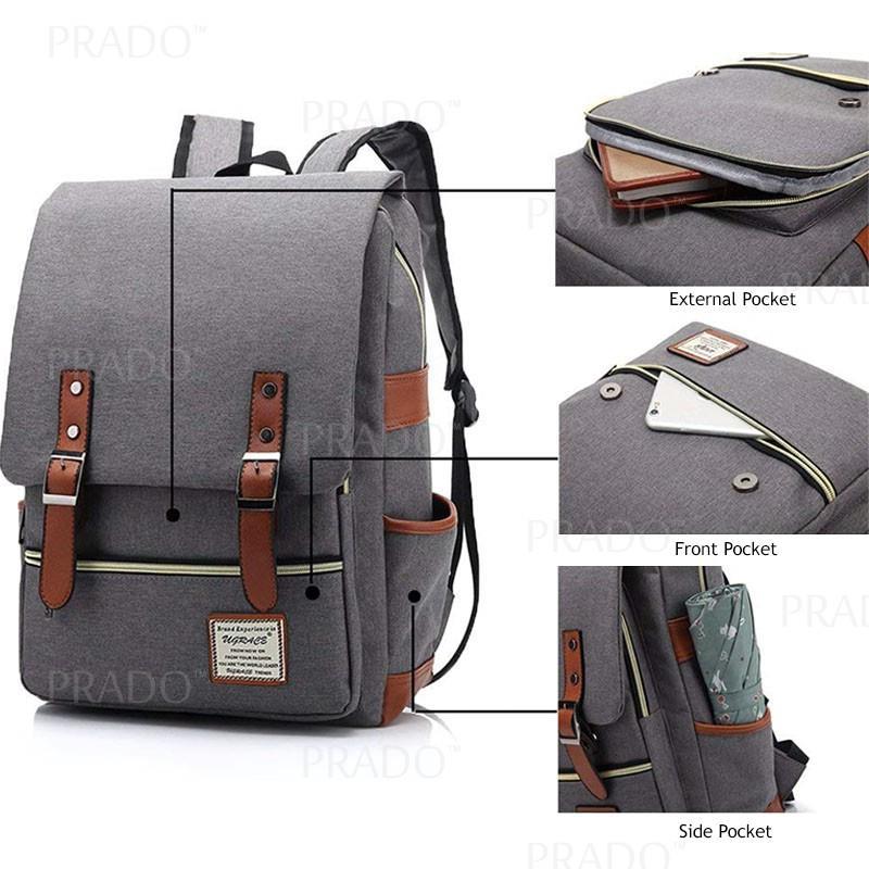 d164ac764361 Korean Japanese Style College School Backpack Laptop Travel Bags 77