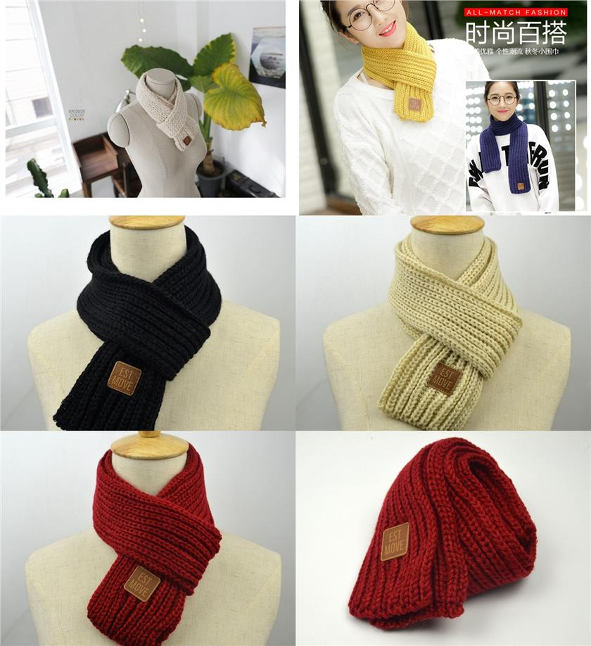 Korean Knit Jacquard Scarf