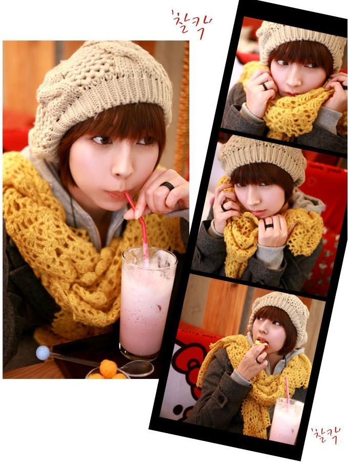 Korean Knitted Beanie Hat - Coffee c8ea6d48dac