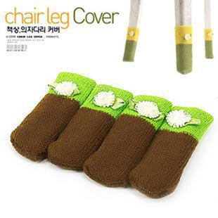 Korean Knitting Wool Chair Table Leg Cover 4 pcs