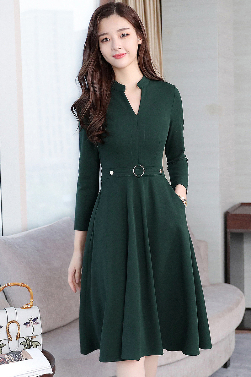 Korean Plain Cotton Long Sleeve Dre End 1 26 2021 12 00 Am