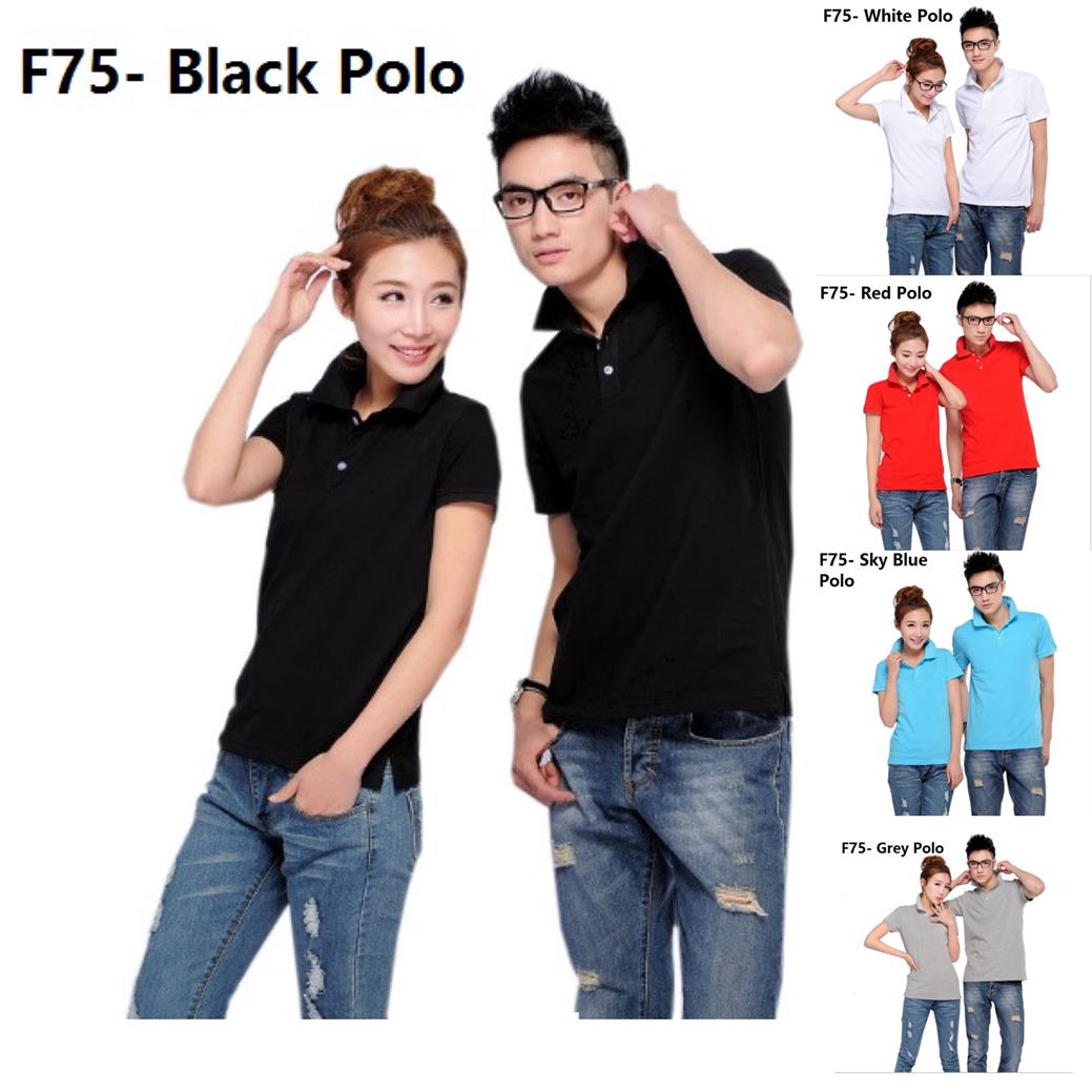 Korean Polo cloth clothing baju kurung melayu guy men t shirt sky blue
