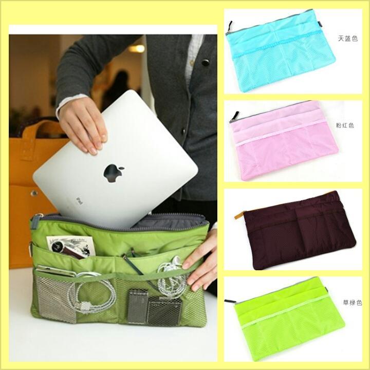 Korean Slim Bag Organizer Padded Inner Handbag Pouch Fit Ipad