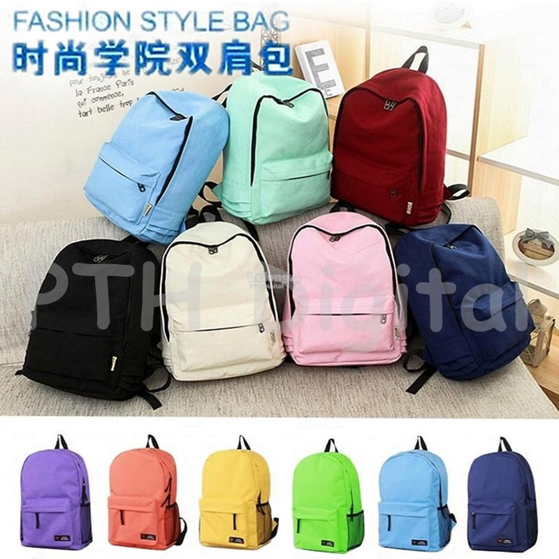 Korean Style Bookbags Canvas Printing Backpack Cute School Bag Beg