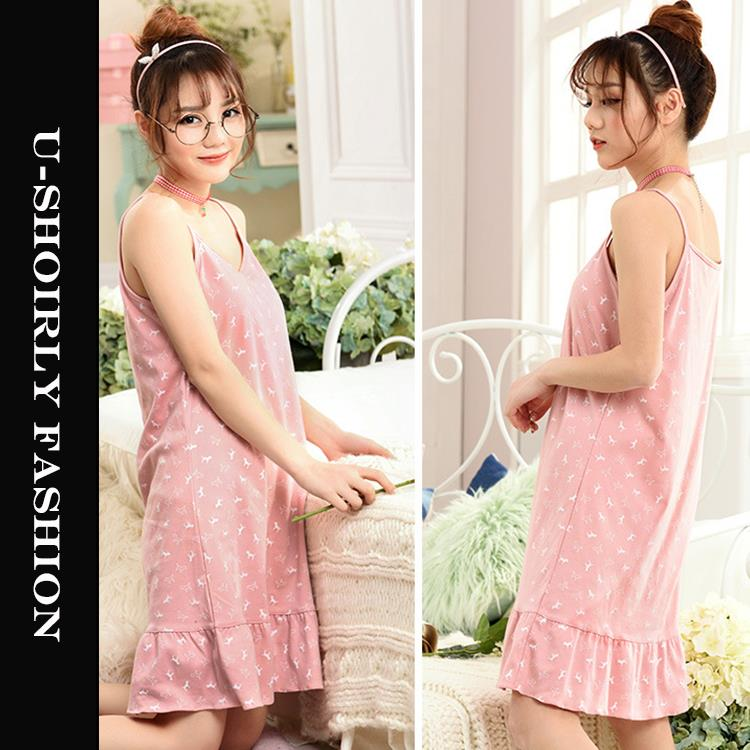 Korean Style Cute Sleeveless Sleepwear US-320 (2 Colors )