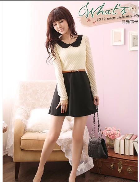 Korean Style Dress Black Sy5501