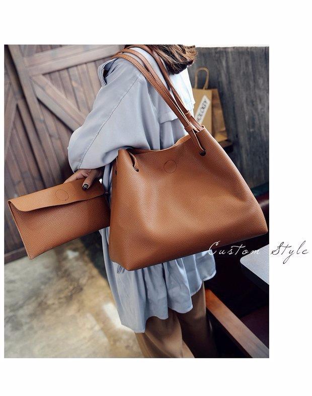 Korean Style Large PU leather Shou (end 11 11 2019 12 15 PM) 27b79b5b98c54