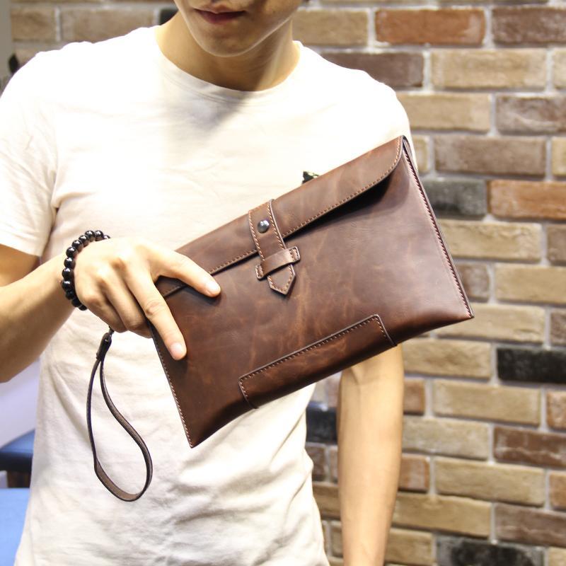 Korean Style Leather Bag Clutch