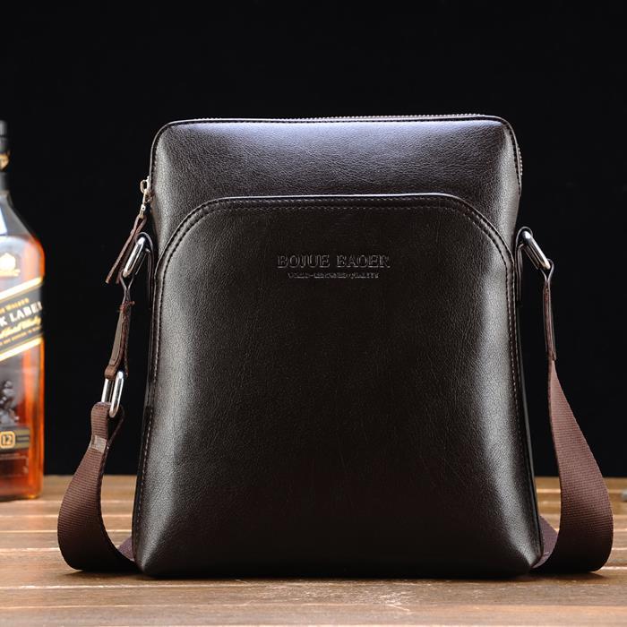 Korean Style Men Shoulder Bag Leather Sling Bags