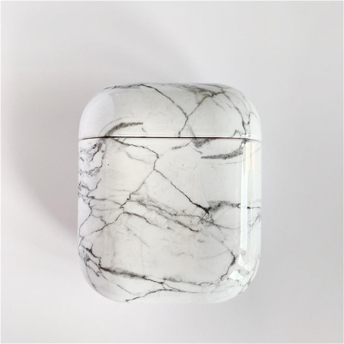 Korean Style Simple Marble Airpods Case