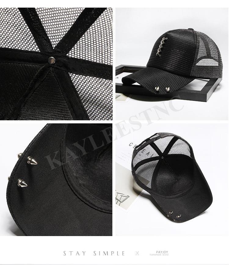 5d42308d2c5 Korean Style Trendy Unique Rivet Design Snapback Golf Baseball Cap