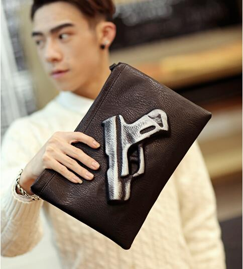 Korean version of men cortex pistol clutch bag