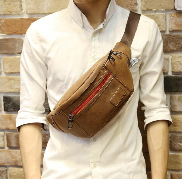 Korean version summer fashion metrosexual chest bag