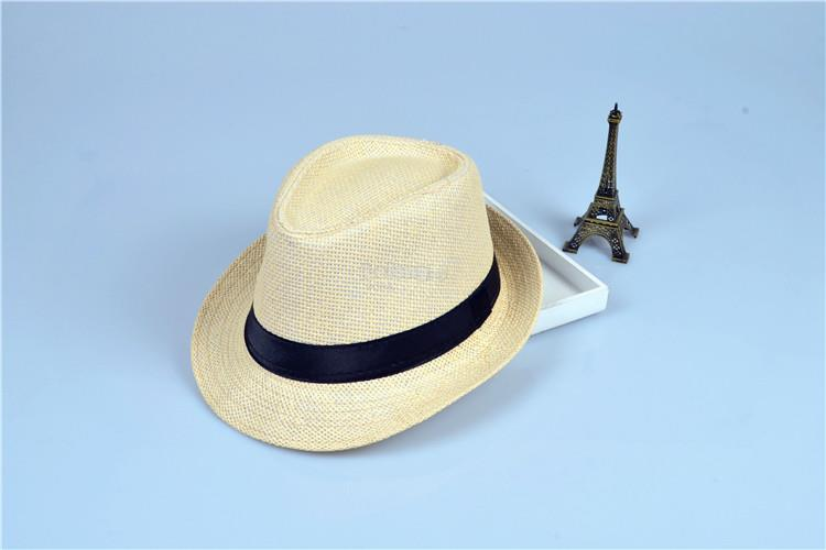 Korean version of the tide fashion shade small hat straw hat- Milk/Bro