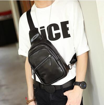 Korean version of the trend of cortex male lady small chest bag