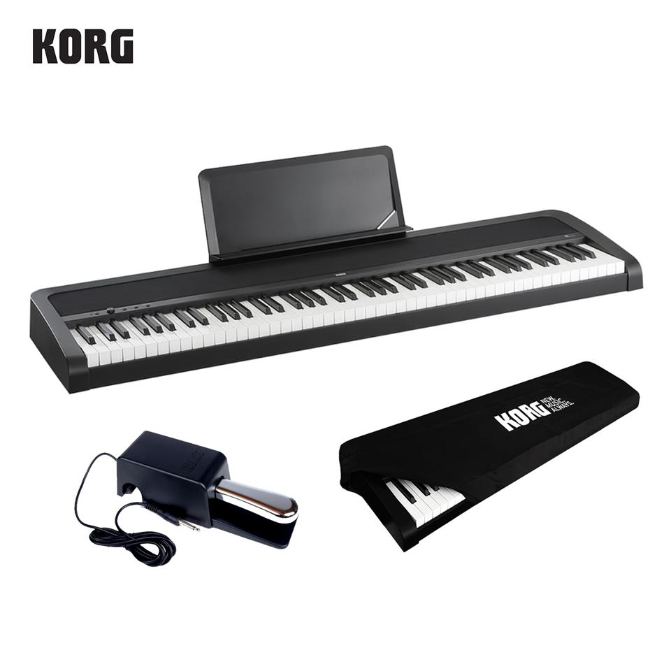 Korg B1 88-Keys Digital Piano + Damper Pedal + Dust Cover