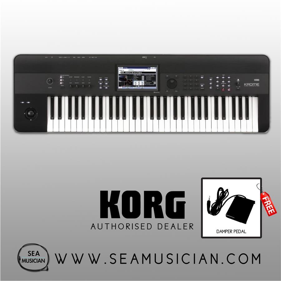 KORG KROME-61 61-KEYS WORKSTATION KEYBOARD & SYNTHESIZER