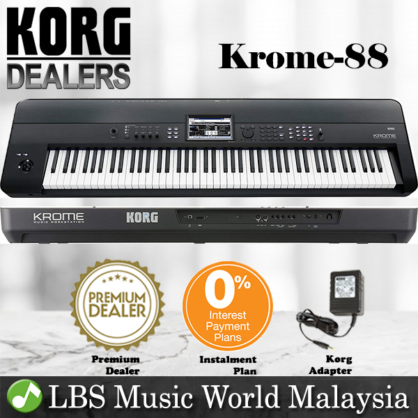 Korg KROME 88 Keys Synthesizer Workstation Keyboard Piano with Pedal a