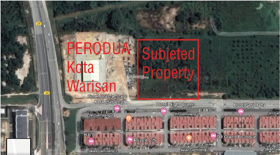 Kota Warisan, Sepang KLIA - 2 acres Main road land for rent