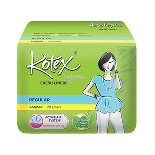 KOTEX FRESH LINERS (REGULAR & SCENTED WITH LIGHT GREEN TEA) 20 PIECES