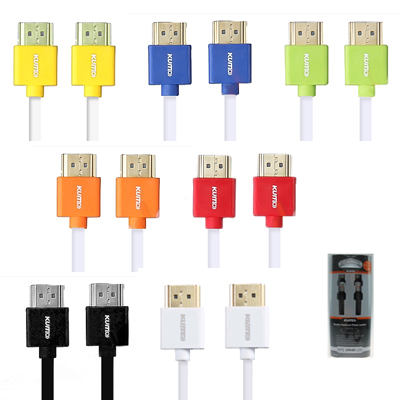 KUMO HDMI (M) TO HDMI (M) CABLE 2M (KHDMISLH301) MANY COLOR