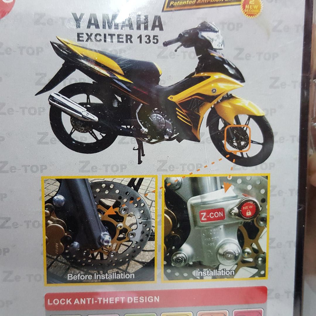 Kunci Disc Lock dan Fork Lock for Yamaha LC135 v1 v2 v3 (K12)