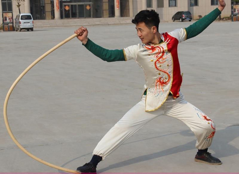 Kungfu Bo Stick Martial Art Wood Fight Fighting Wushu Weapon Staff