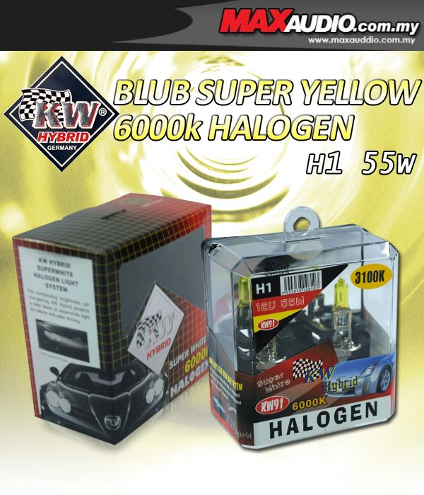 KW HYBIRD 3100K H1 55W Rally Yellow Halogen Bulb Made In Germany
