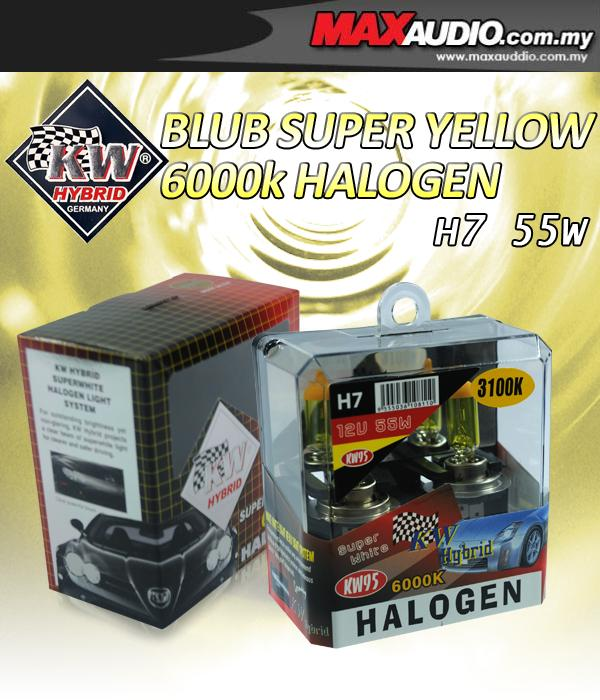 KW HYBIRD 3100K H7 55W Rally Yellow Halogen Bulb Made In Germany