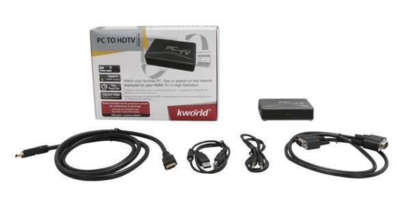 KWORLD PC TO HDTV CONVERTER PT220-VH *CLEAR STOCK*
