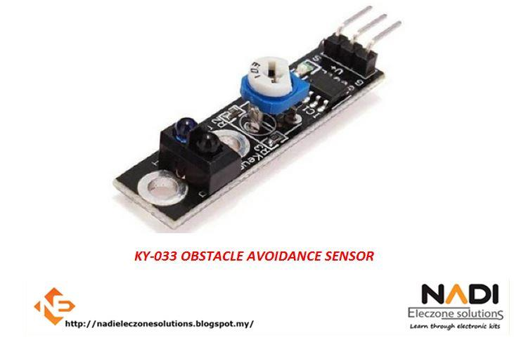 KY-033 OBSTACLE AVOIDANCE SENSOR/ LINE FOLLOWING