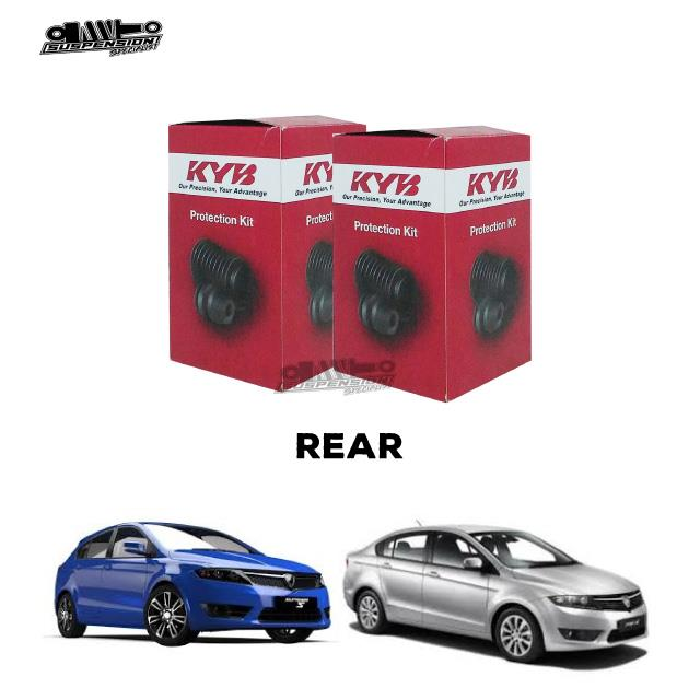 KYB PREVE SUPRIMA ABSORBER BUSH  X 2 SET PROTECTION KIT - REAR