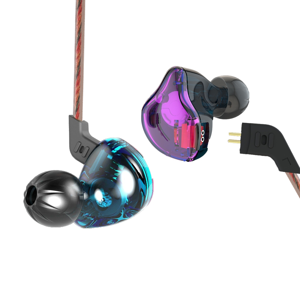 KZ ZST WIRED ON-CORD CONTROL NOISE-CANCELING IN-EAR EARPHONES BUILT-IN..