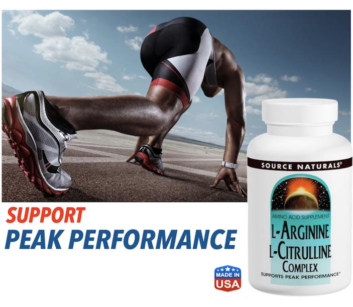 L-Arginine 100mg + Citrulline 250mg Complex 120 Tablets (Made in USA)