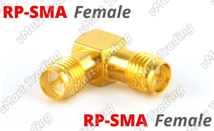 L Connector RP-SMA Female to RP-SMA Female Angle Adapter